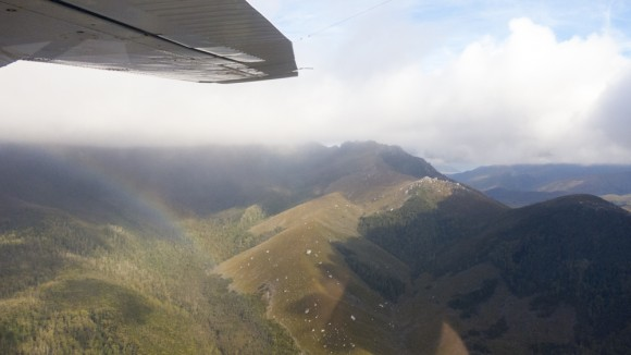 Flying in over Arthurs Range. Gives a daunting sense of scale.