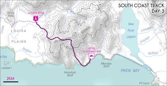 Louisa River – Little Deadmans Bay (click to enlarge).