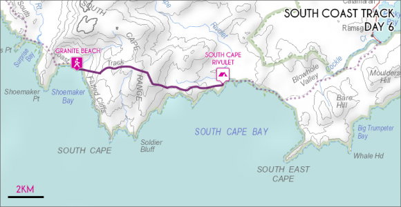 Day 6 - Granite Beach to South Cape Rivulet