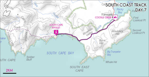 Day 7 - South Cape Rivulet to Cockle Creek
